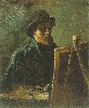 Vincent Van Gogh. Self-Portrait with Dark Felt Hat at the Easel.