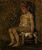 Vincent Van Gogh. Seated Nude Study of a Little Girl.