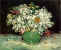 Vincent Van Gogh. Vase with Zinnias and Other Flowers.