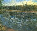 Vincent Van Gogh. The Seine with a Rowing Boat.
