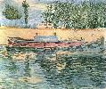 Vincent Van Gogh. The Banks of the Seine with Boats.