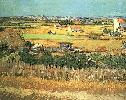 Vincent Van Gogh. Harvest at La Crau, with Montmajour in the Background.