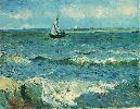 Vincent Van Gogh. Seascape at Saintes-Maries.