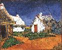 Vincent Van Gogh. Three White Cottages in Saintes-Maries.