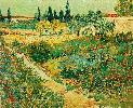 Vincent Van Gogh. Flowering Garden with Path.